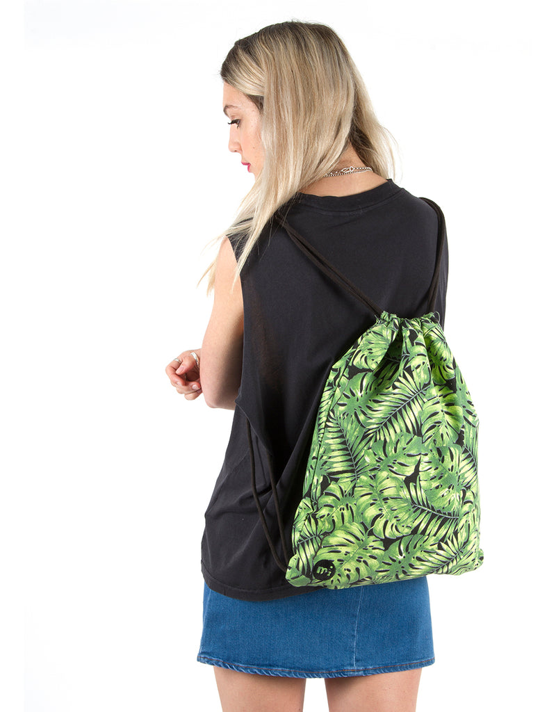 Mi-Pac Kit Bag - Tropical Leaf Black