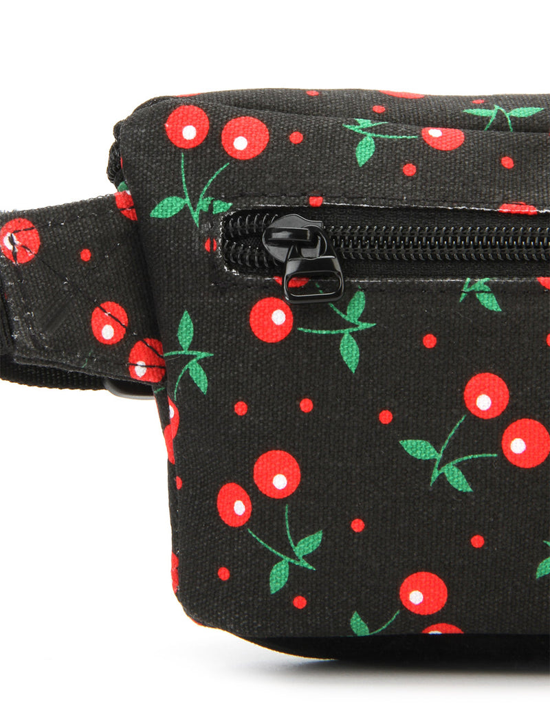 Mi-Pac Slim Bum Bag - Cherries Black