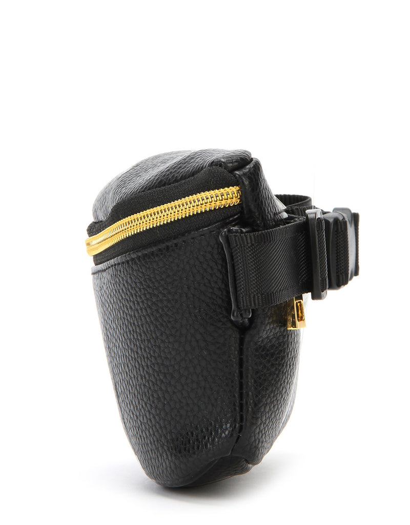 Mi-Pac Gold Slim Bum Bag - Tumbled Black
