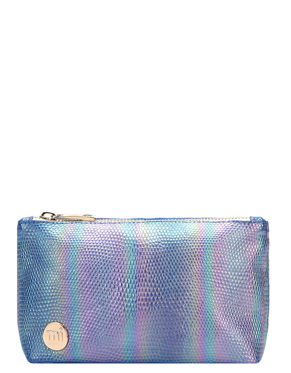 Mi-Pac Gold Make Up Bag - Mermaid Blue
