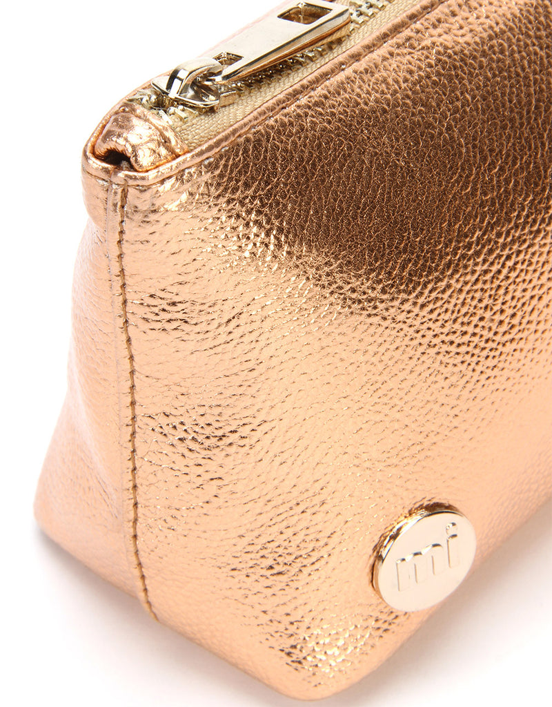 Mi-Pac Gold Make Up Bag - Metallic Rose Gold