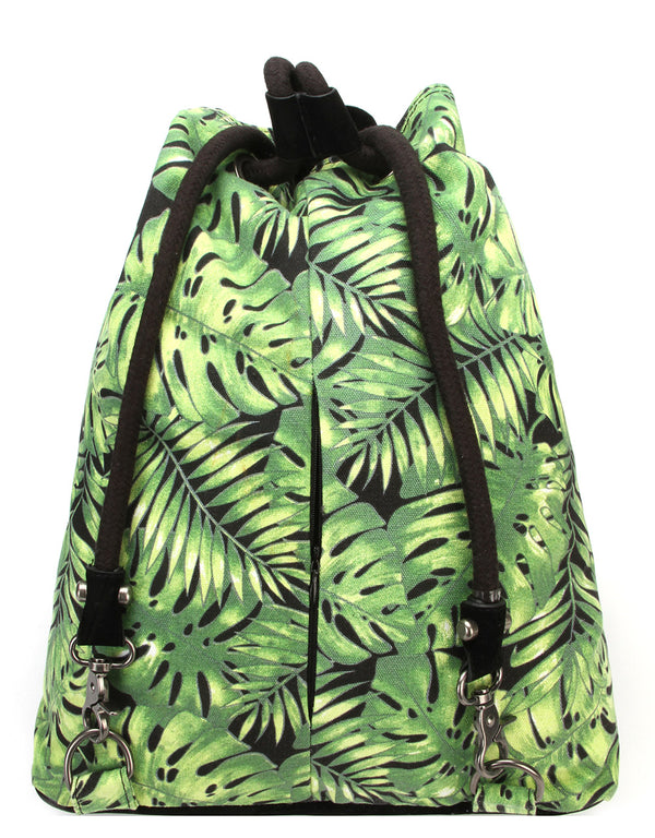 Mi-Pac Swing Bag - Tropical Leaf Black
