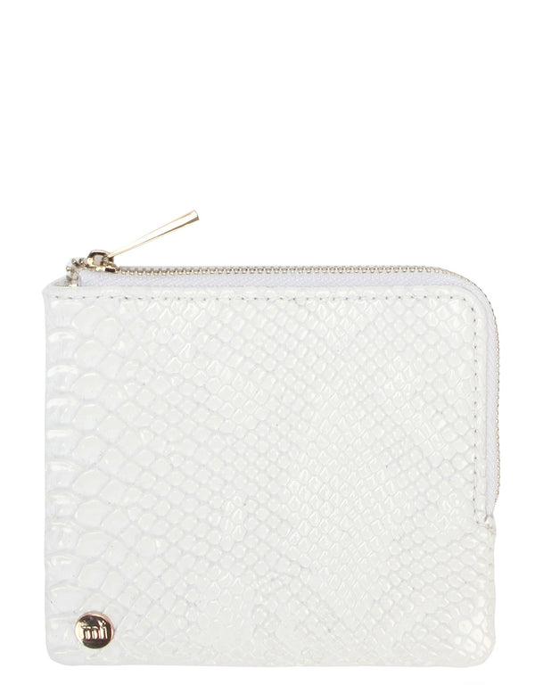 Mi-Pac Gold Coin Holder - Patent Python White