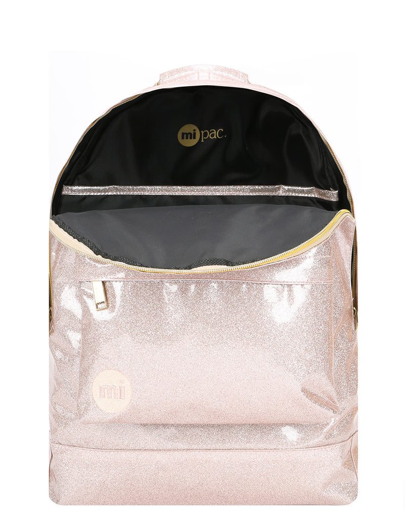 Mi-Pac Gold Backpack - Glitter Champagne