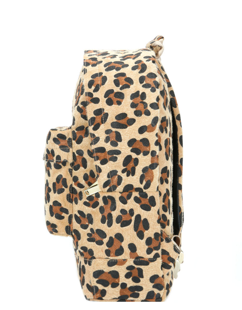 Mi-Pac Gold Backpack - Leopard Pony Tan