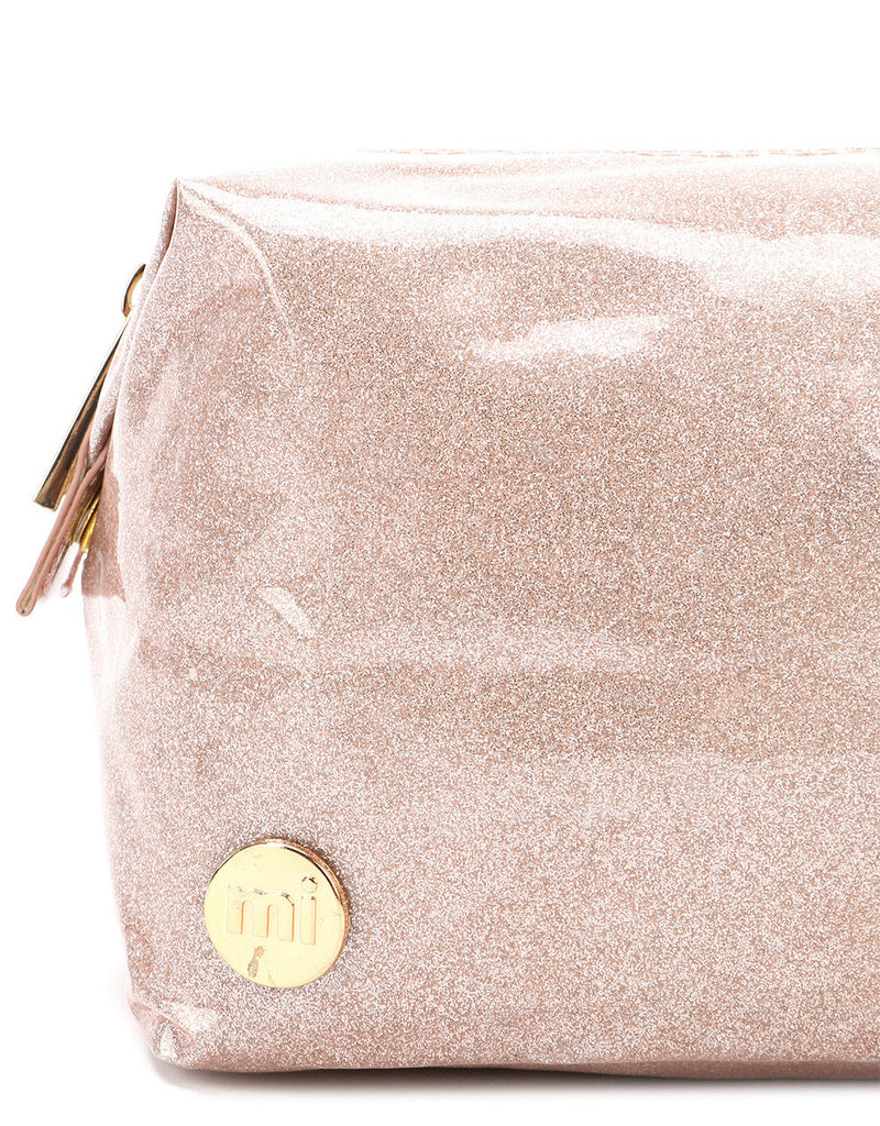 Mi-Pac Gold Wash Bag - Glitter Champagne