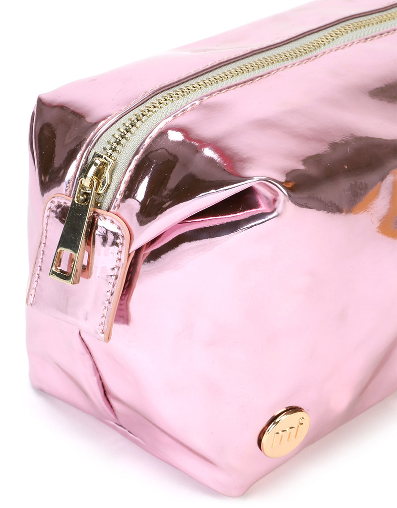 Mi-Pac Gold Wash Bag - Mirror Pink