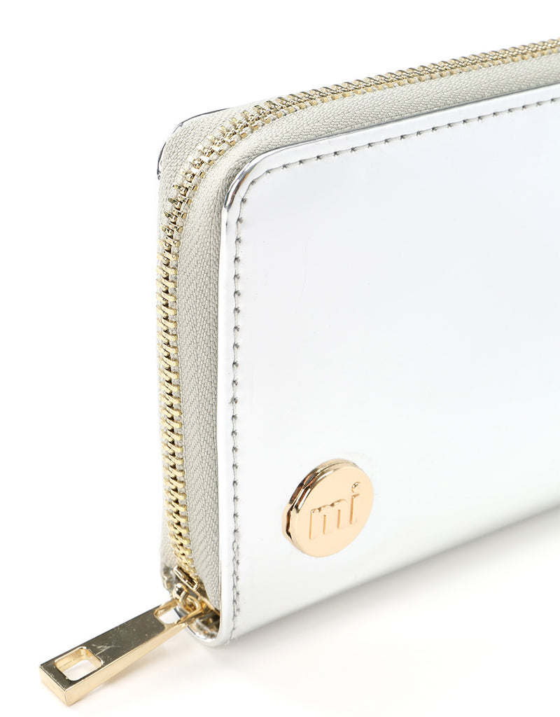 Mi-Pac Zip Purse - Mirror Silver