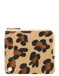 Mi-Pac Coin Holder - Leopard Pony Tan