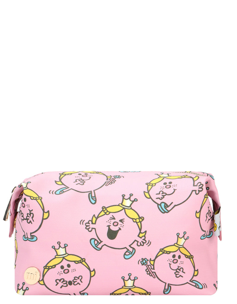 Mi-Pac x Little Miss Gold Wash Bag - Little Miss Princess Pink