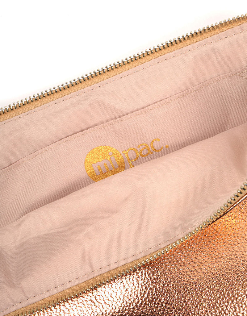 Mi-Pac Clutch - Metallic Rose Gold
