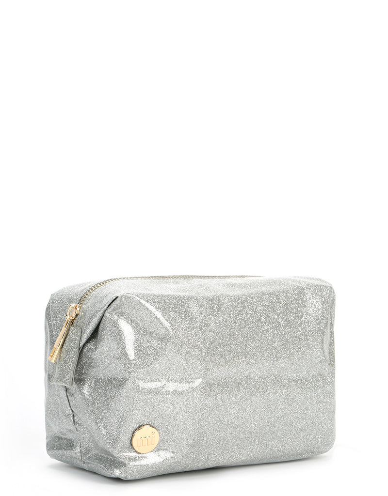 Mi-Pac Wash Bag  - Glitter Silver