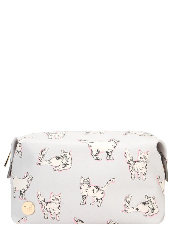 Mi-Pac Wash Bag  - Cats Light Grey