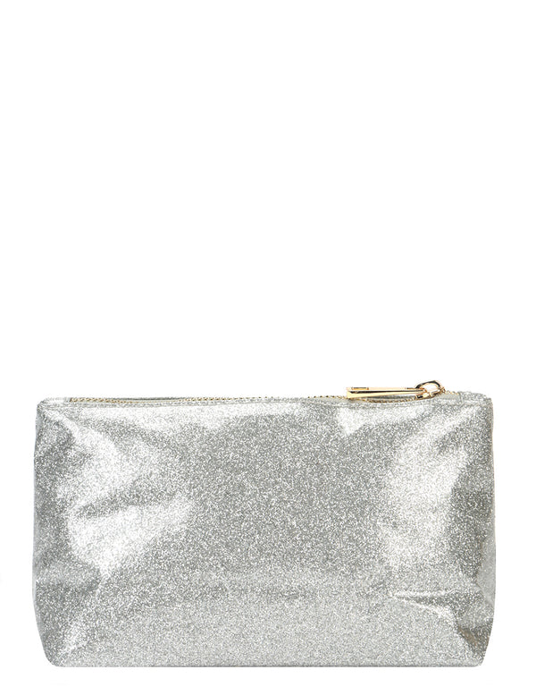 Mi-Pac Make Up Bag - Glitter Silver