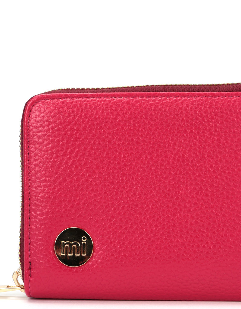 Mi-Pac Zip Purse  - Tumbled Fuchsia