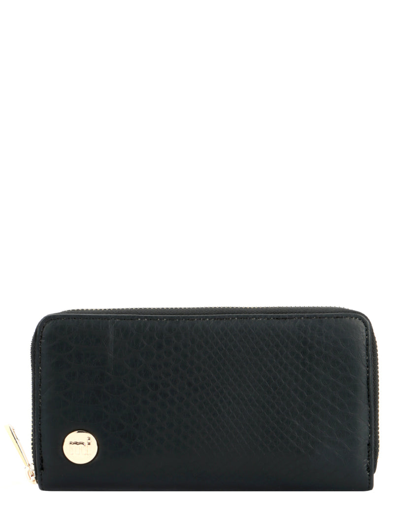 Mi-Pac Zip Purse  - Snakeskin Black