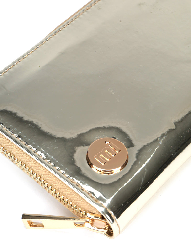 Mi-Pac Zip Purse  - Mirror Gold