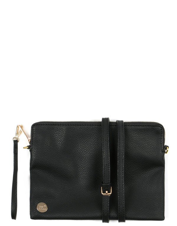 Mi-Pac Gold Clutch - Tumbled Black