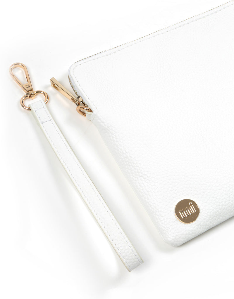 Mi-Pac Gold Clutch - Tumbled White
