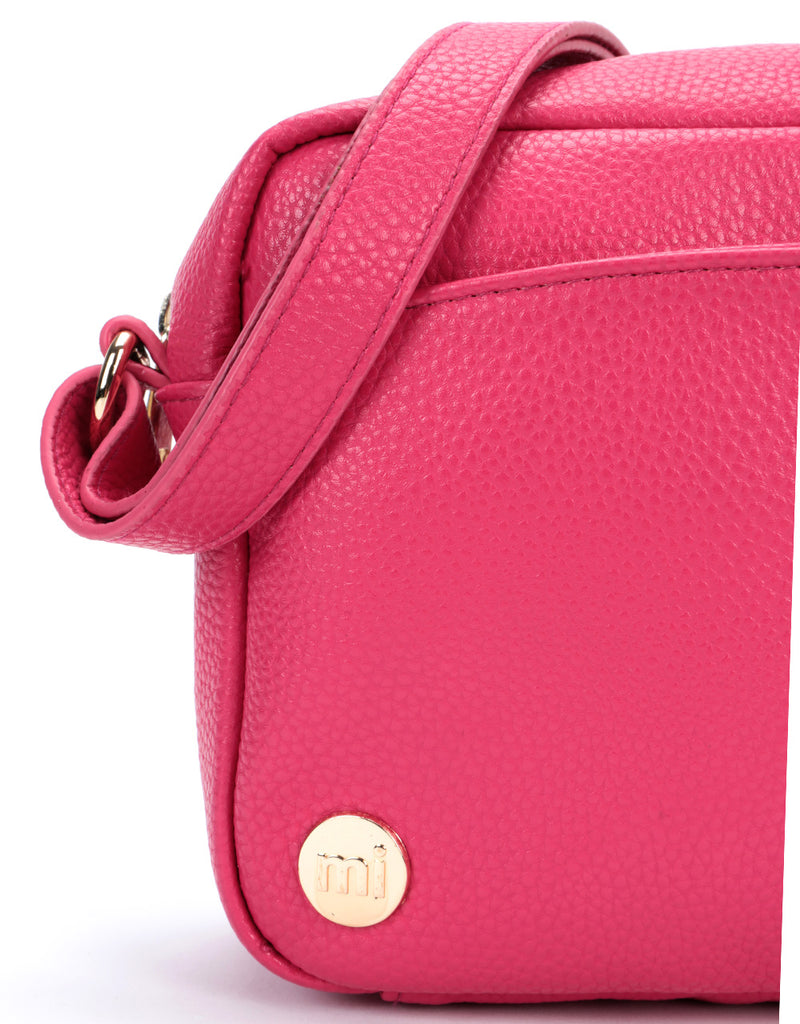 Mi-Pac Gold Cross Body - Tumbled Fuchsia