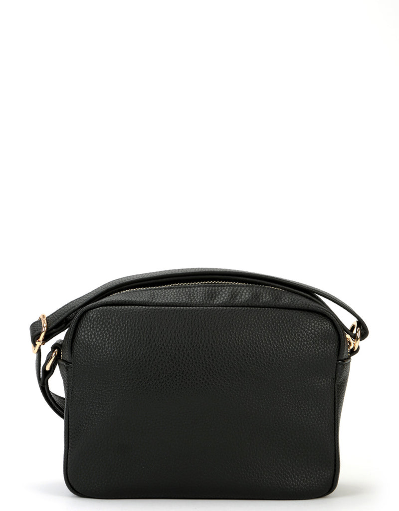 Mi-Pac Gold Cross Body - Tumbled Pony Pocket Black