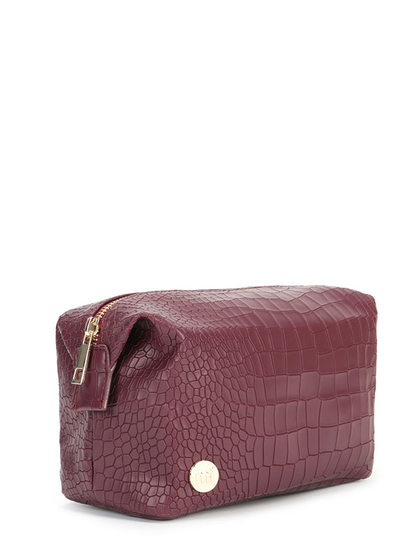 Mi-Pac Gold Wash Bag - Matt Crock Garnet