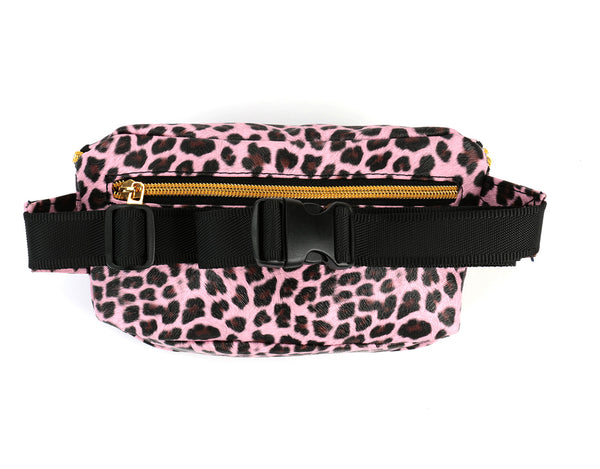 Mi-Pac Gold Bum Bag - Cheetah Pink