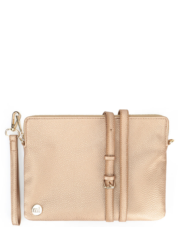 Mi-Pac Gold Clutch - Tumbled Metallic Blush