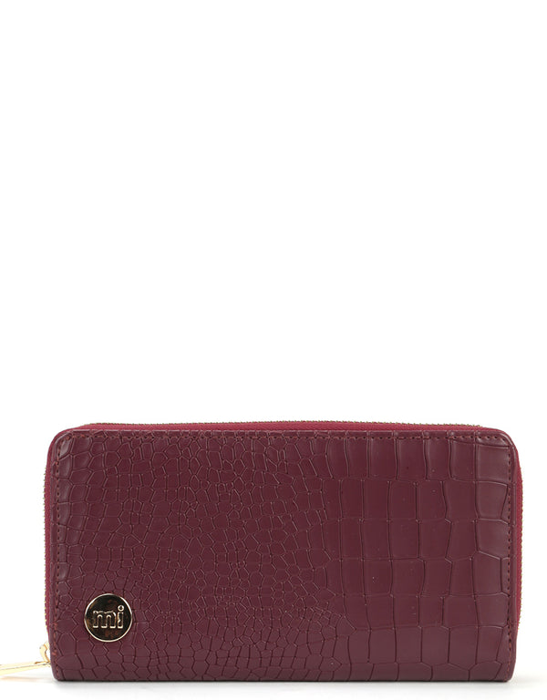 Mi-Pac Gold Zip Purse - Matt Crock Garnet