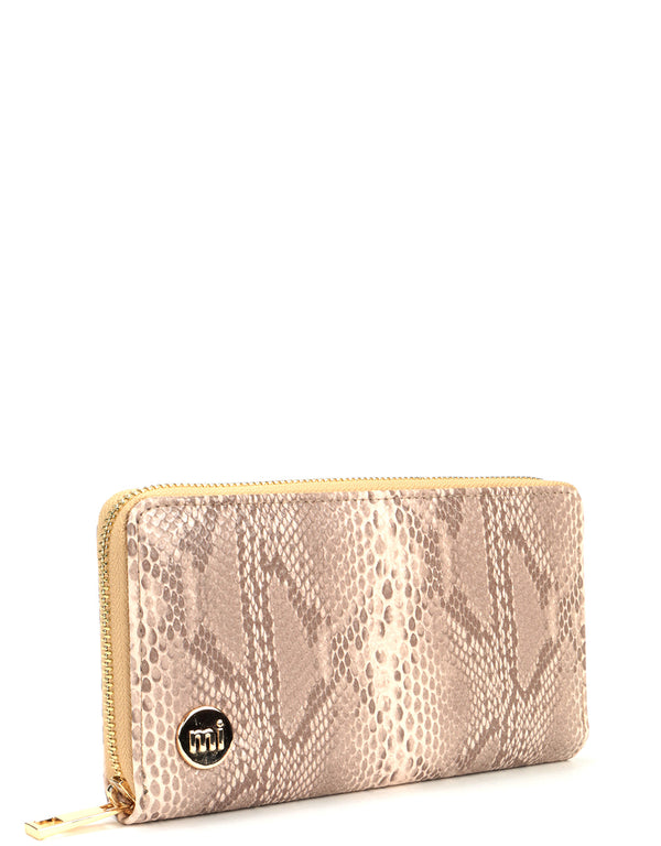 Mi-Pac Gold Zip Purse - Snake Natural