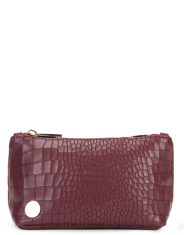 Mi-Pac Make Up Bag - Matt Crock Garnet