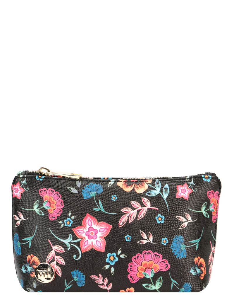 Mi-Pac Make Up Bag - Crafted Folk Black