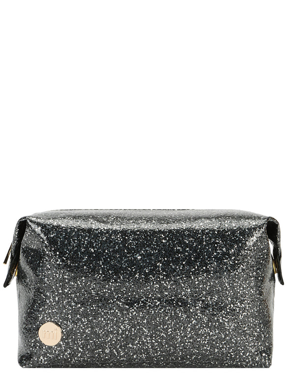 Mi-Pac Gold Wash Bag Glitterball - Black