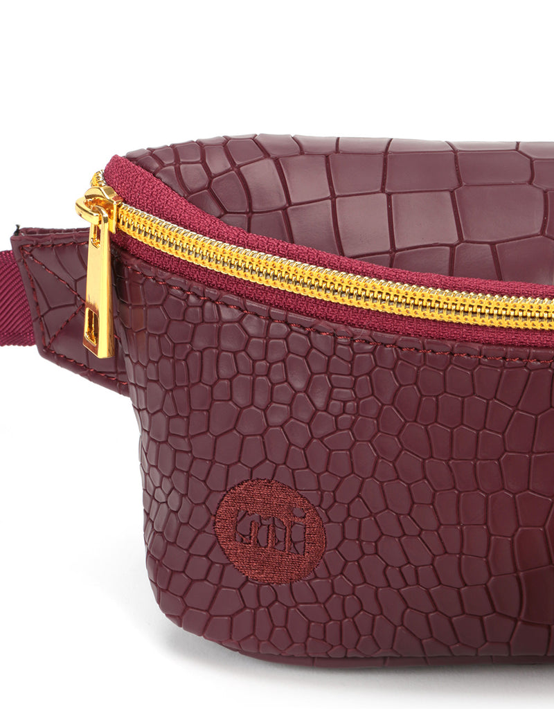 Mi-Pac Gold Bum Bag - Matt Crock Garnet
