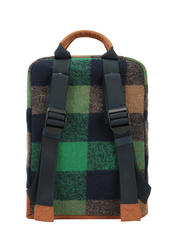 Mi-Pac Tote Backpack - Felt Check Green/Navy