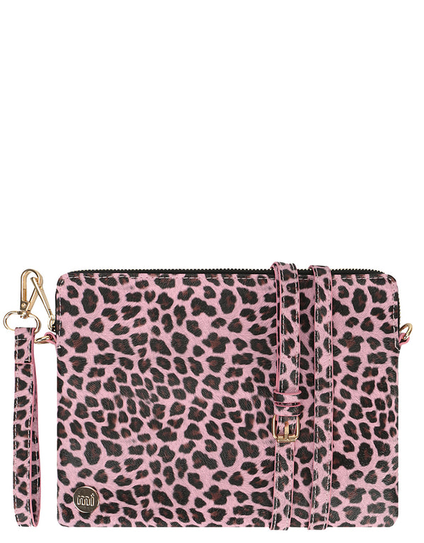 Mi-Pac Gold Clutch - Cheetah Pink