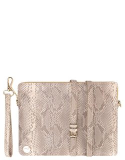 Mi-Pac Gold Clutch - Snake Natural