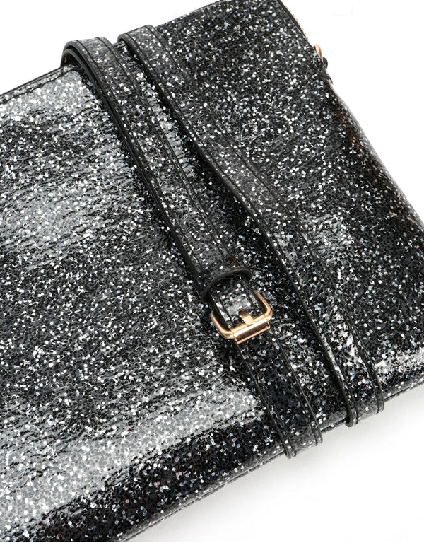 Mi-Pac Gold Clutch - Glitterball Black