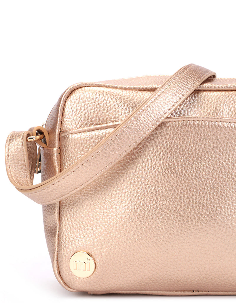 Mi-Pac Gold Cross Body - Tumbled Metallic Blush