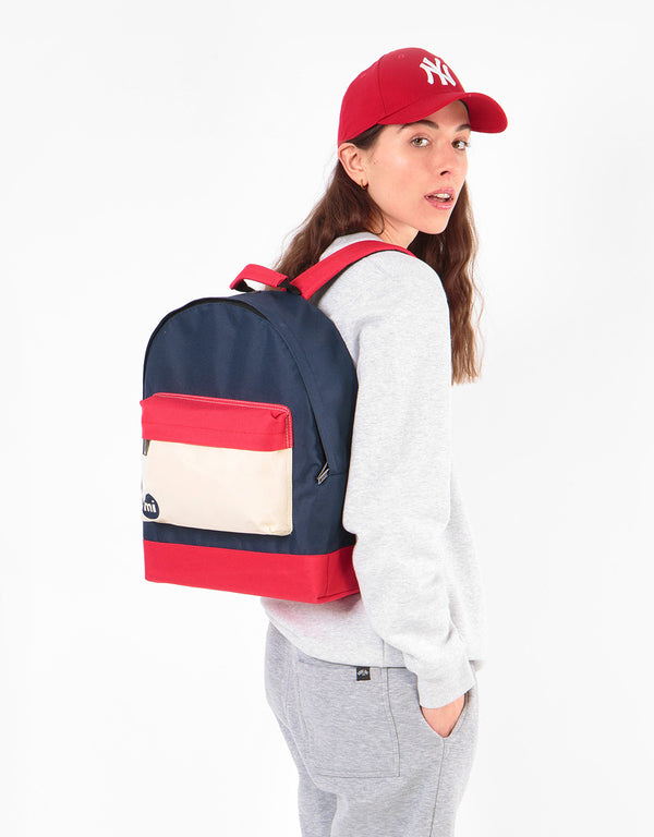 Mi-Pac Colour Block Backpack - Blue Black/Red