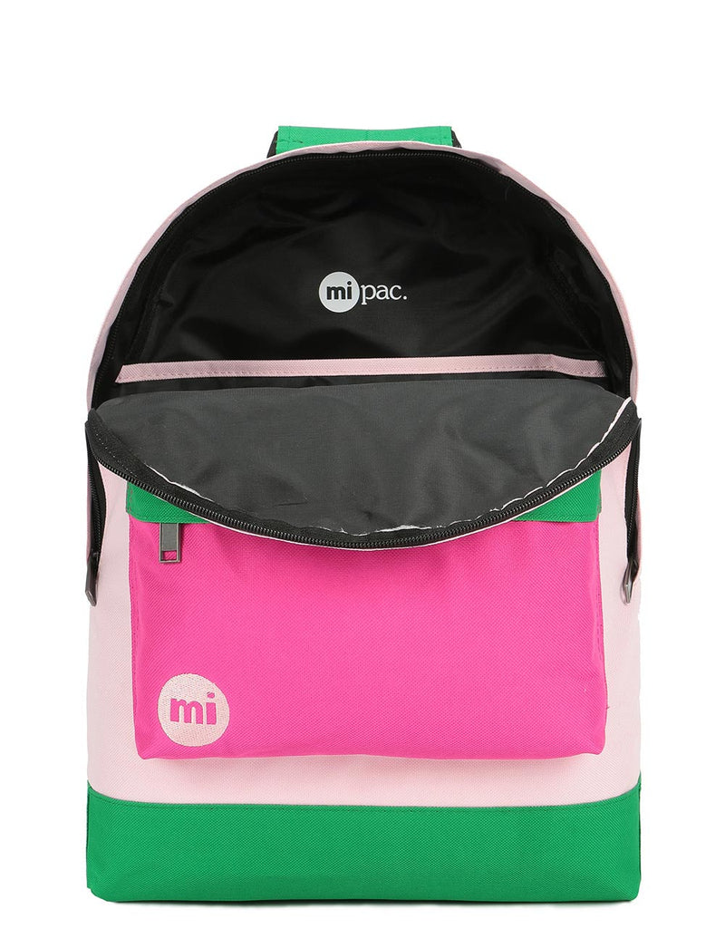 Mi-Pac Colour Block Backpack - Blush/Leaf Green