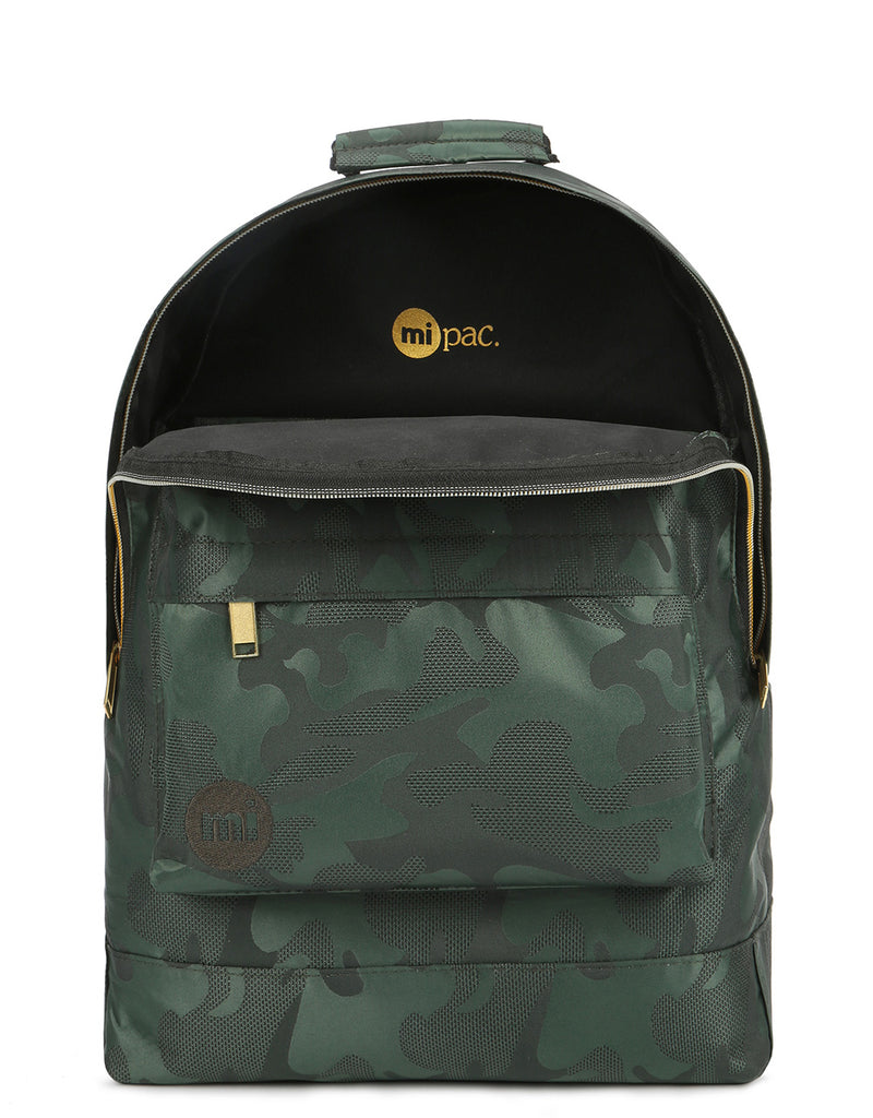 Mi-Pac Satin Camo Backpack - Green