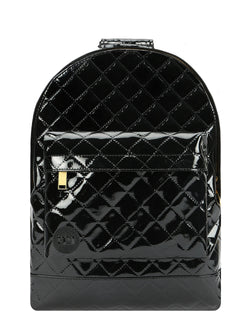 Mi-Pac Patent Quilt Backpack - Black