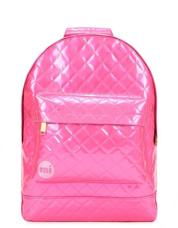 Mi-Pac Patent Quilt Backpack - Pink