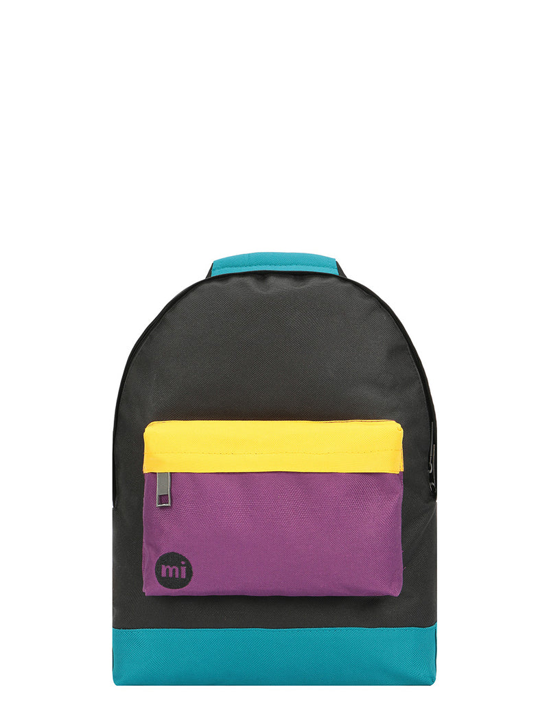 Mi-Pac Colour Block Mini Backpack - Black/True Plum