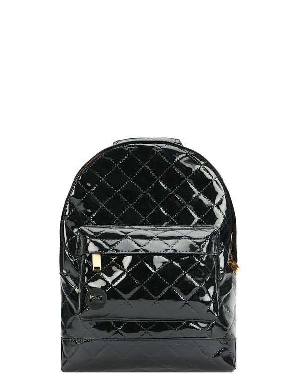 Mi-Pac Patent Quilt Mini Backpack - Black