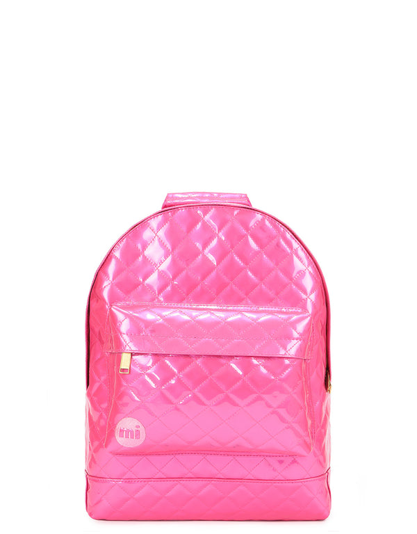 Mi-Pac Patent Quilt Mini Backpack - Pink