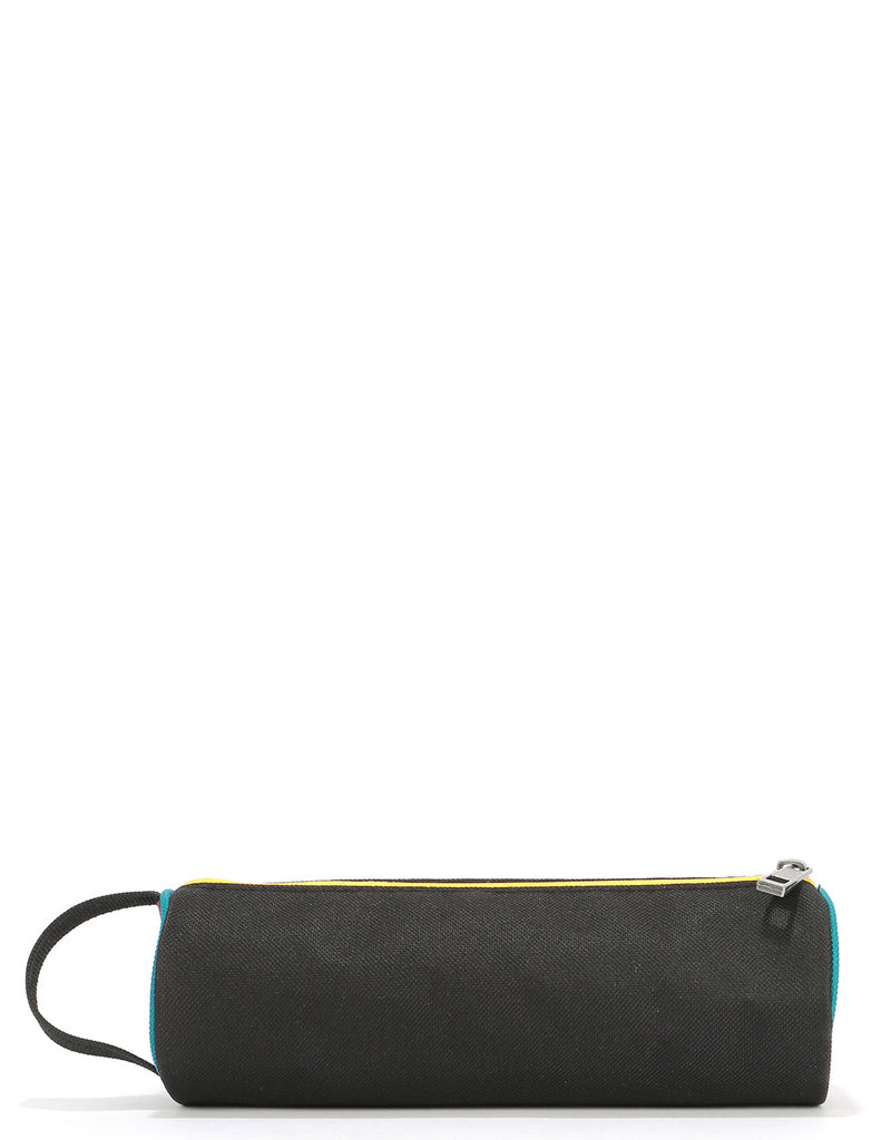 Mi-Pac Colour Block Pencil Case - Black/True Plum