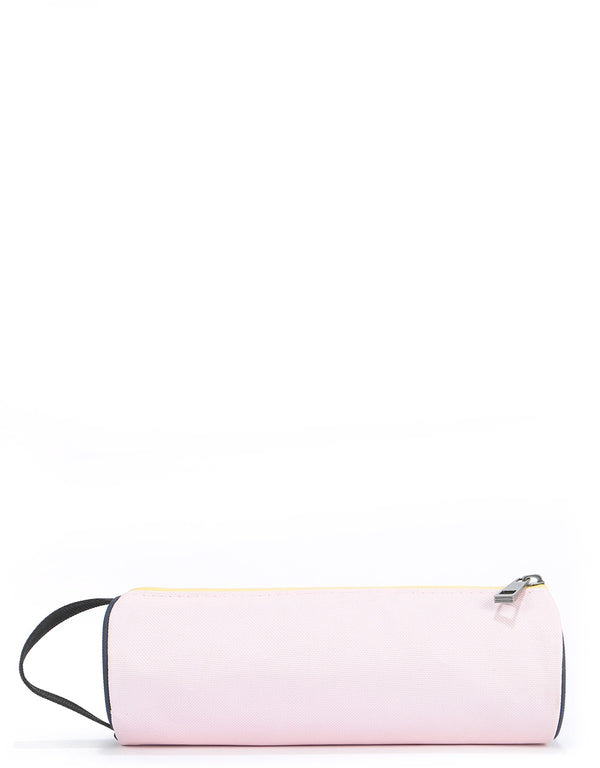 Mi-Pac Colour Block Pencil Case - Blush/Cornflower Blue