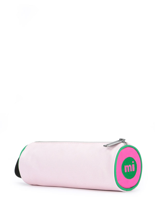 Mi-Pac Colour Block Pencil Case - Blush/Leaf Green